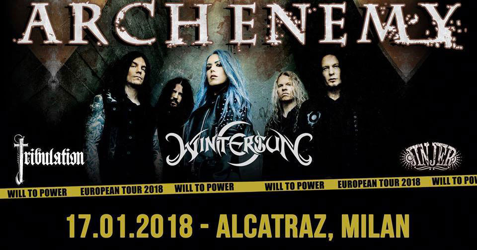 ARCH ENEMY – Quattro ore di fuoco all'Alcatraz