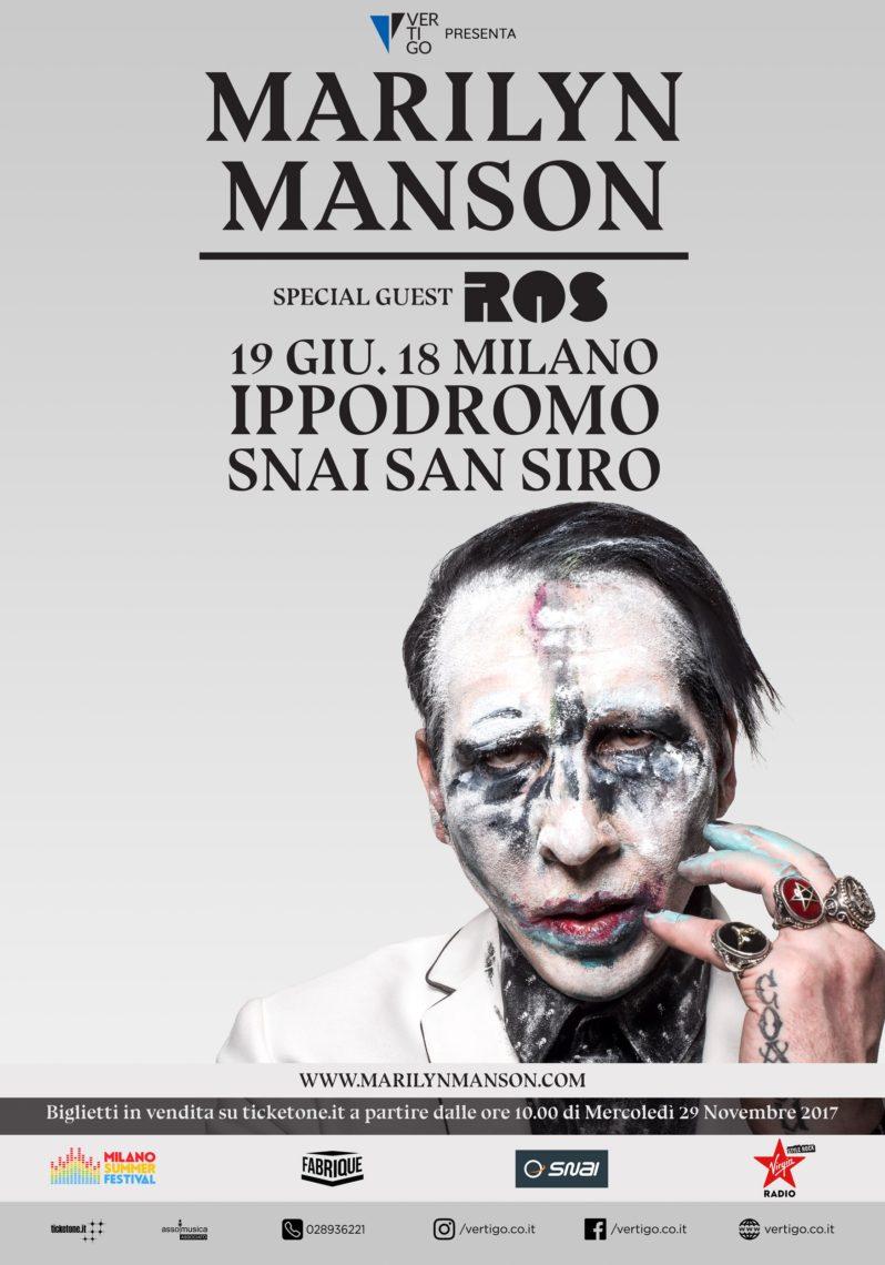 MARYLIN MANSON at Milano Summer Festival