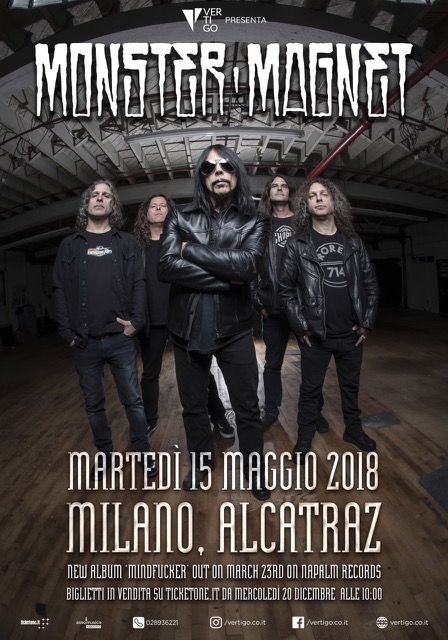 MONSTER MAGNET – New gig after 10 years from the last in Italy