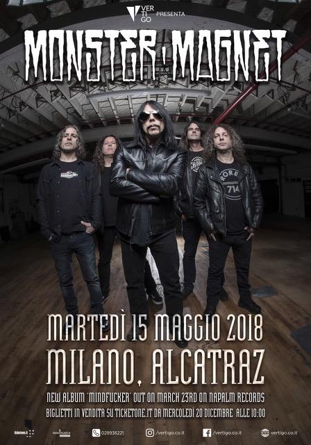 MONSTER MAGNET – la nuova data dopo 10 anni dall'ultimo concerto in Italia