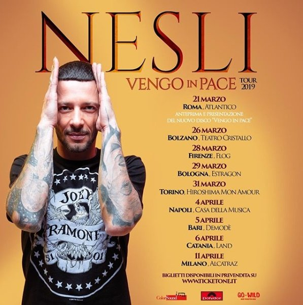 NESLI – Vengo In Pace Tour