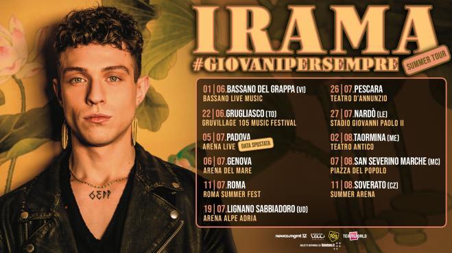 Irama – Giovani per Sempre (Forever Young) tour